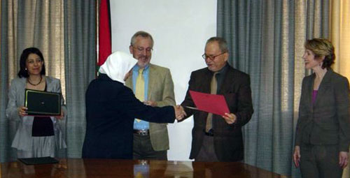 Photo taken at MIT BLOSSOMS Appreciation Event in Amman, Jordan where BLOSSOMS teachers received certificates from MIT.