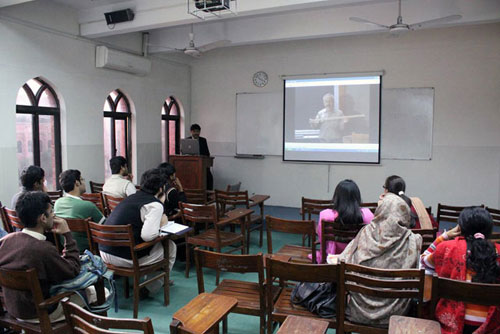 Students at the National University of Computer and Emerging Sciences in Lahore, Pakistan.